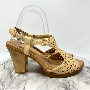 Naya Alpine laser cut tooled leather sandal 8.5